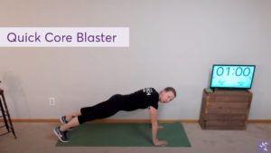 Anytime Fitness Virtual Workout - Core Blaster (7 Mins)