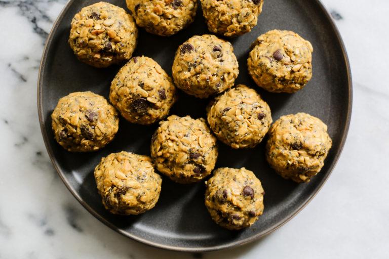 peanut butter energy ball snacks